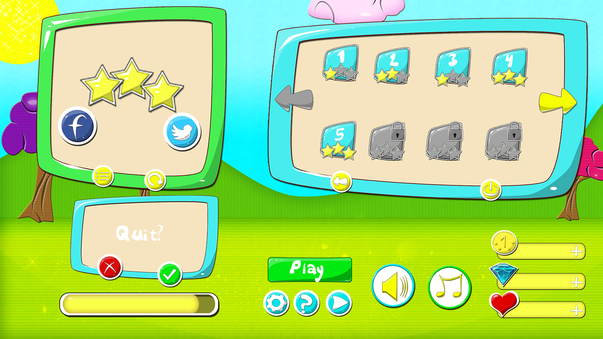 Cartoony GUI Pack by Hordana | GameMaker: Marketplace