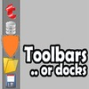 Animated docks or toolbars