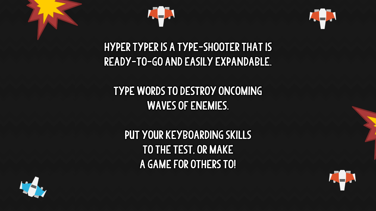 Hyper Typer Shooter Engine by Zack Banack | GameMaker