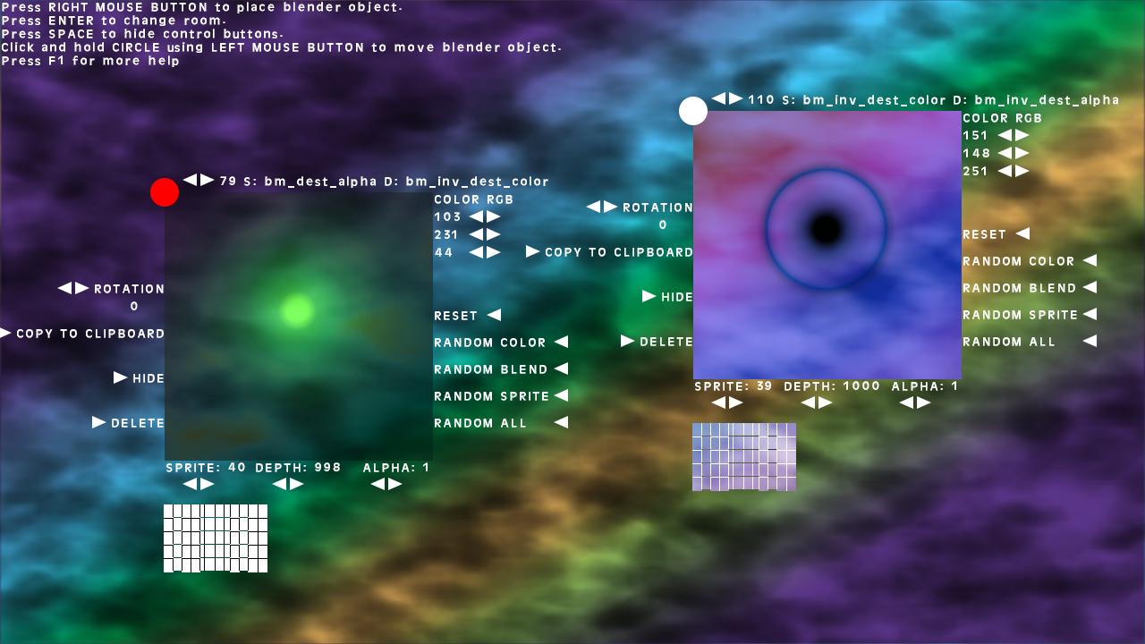 Blend Modes Tester by SmallBigSquare | GameMaker: Marketplace