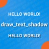 Draw Text Shadow