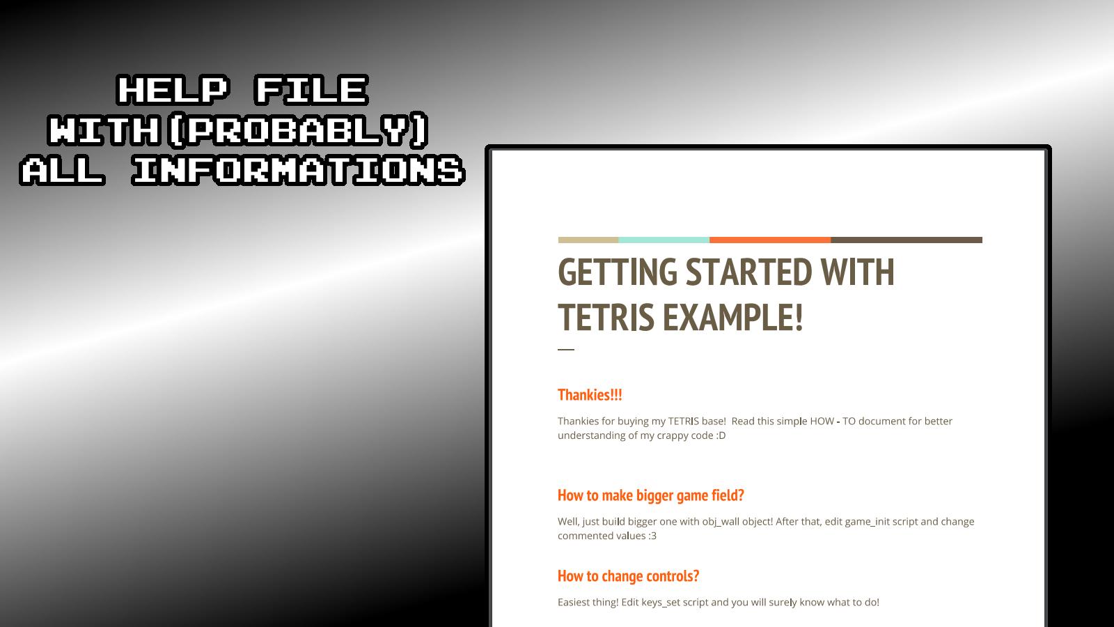 Tetris basic engine by Druid_CZ | GameMaker: Marketplace