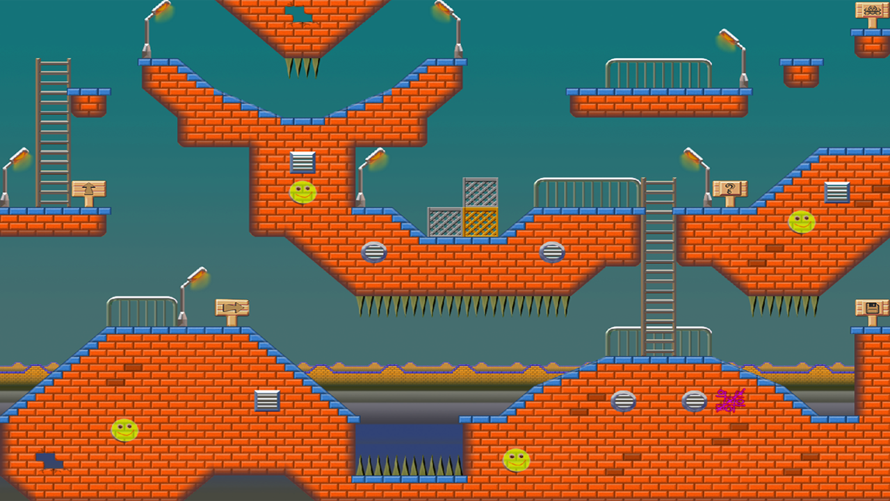 Platformer tileset - OrgBricks by Smiley Face Studio