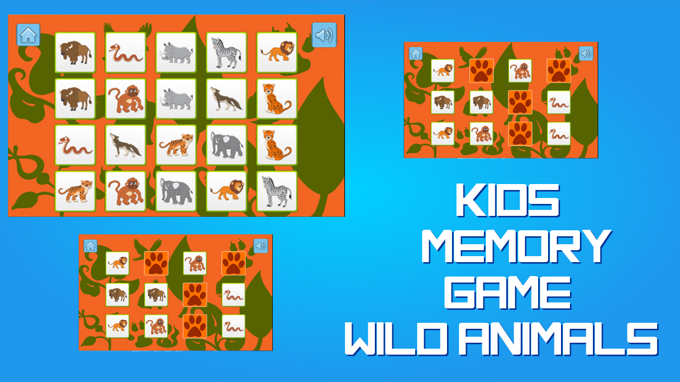 Kids Memory Games Wild Animals by Digi Smile | GameMaker: Marketplace