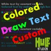 Colored Draw Text Custom