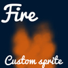 Fire animation custom sprite