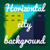 Horizontal city background