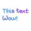 Wavy text