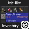 Minecraft-like Inventory