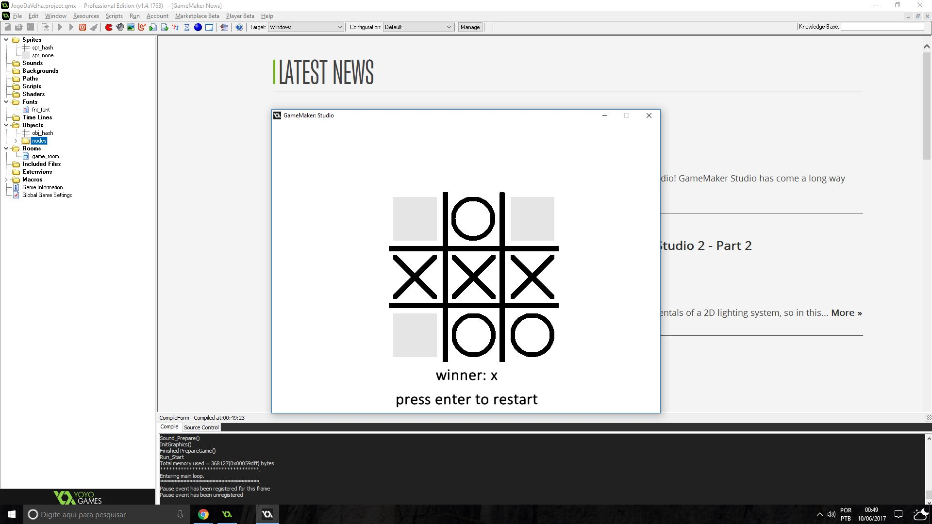 Tic tac toe framework by comerlato gamemaker marketplace pronofoot35fo Image collections