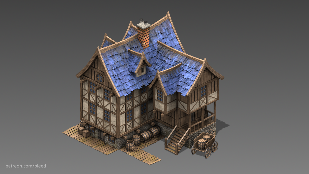 Isometric - Medieval Tavern by Bleed's Game Art | GameMaker