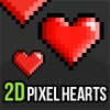 Pixel Art Heart Icons