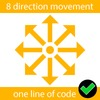 Movement in 8 directions