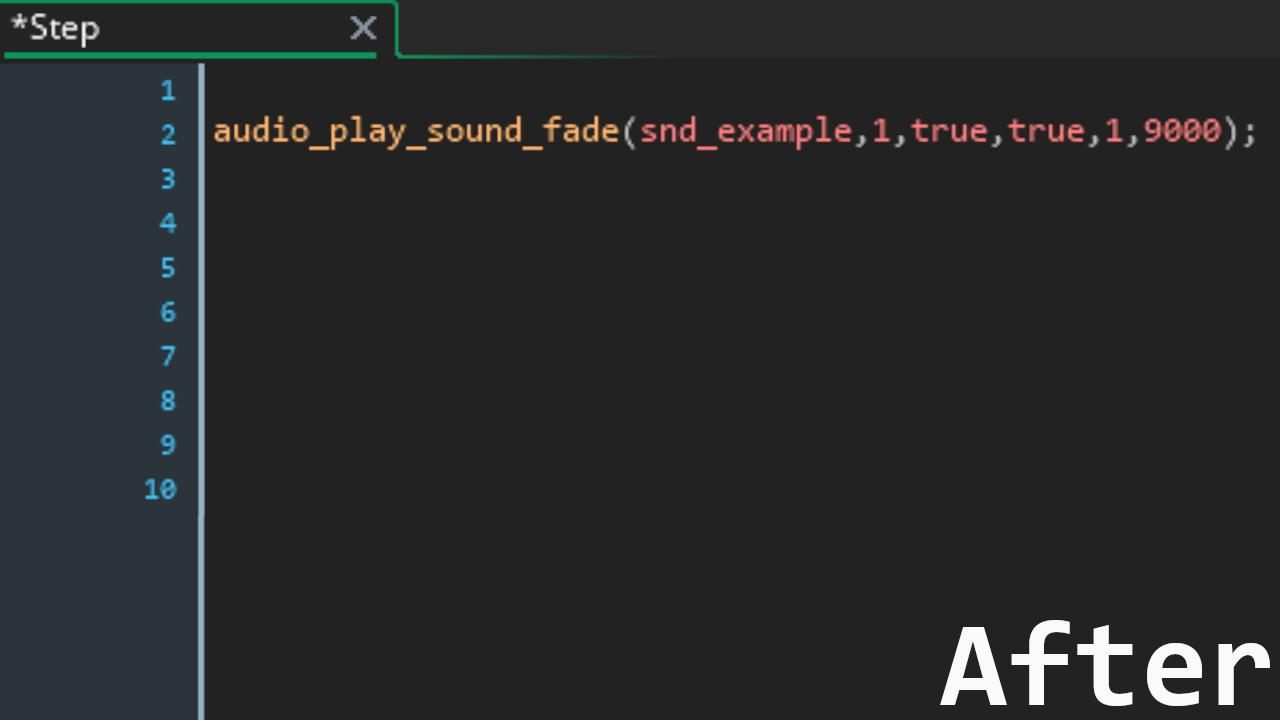 Simple audio fade in effect by Vulpes_Coders | GameMaker