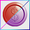 Red and Purple 2.5d Coins