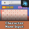 Character Name Input
